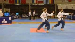 Belgien Open Poomsae 2015 Syncron Damer (18-30) indledende (11)