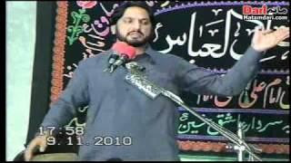 zakir syed Iqbal hussain bajar majlis on 9/11/2010 at shahrai asadullah fatehjang distt attok