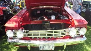 1962 Rambler Classic Deluxe Four Door Sedan RedWht LP0727195125
