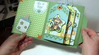 Baby Boy Tag Waterfall Book