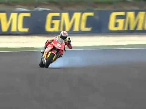 DRIFT - Phillip Island 2006 MotoGP Race Melandri - YouTube