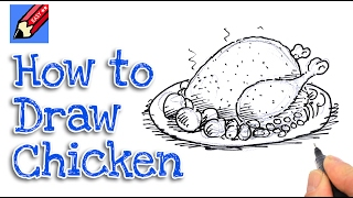 How to draw a Roast Turkey  Real Easy for kids and beginners