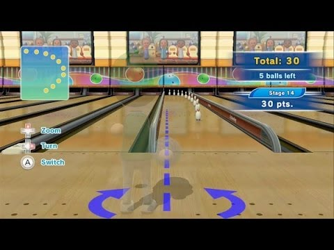 Wii Sports Club Bowling - Tricky Pins Training - 300 Points (Perfect Score - Platinum Medal)