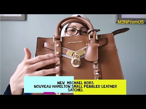 New  MICHAEL KORS Nouveau Hamilton Small Pebbled Leather Satchel