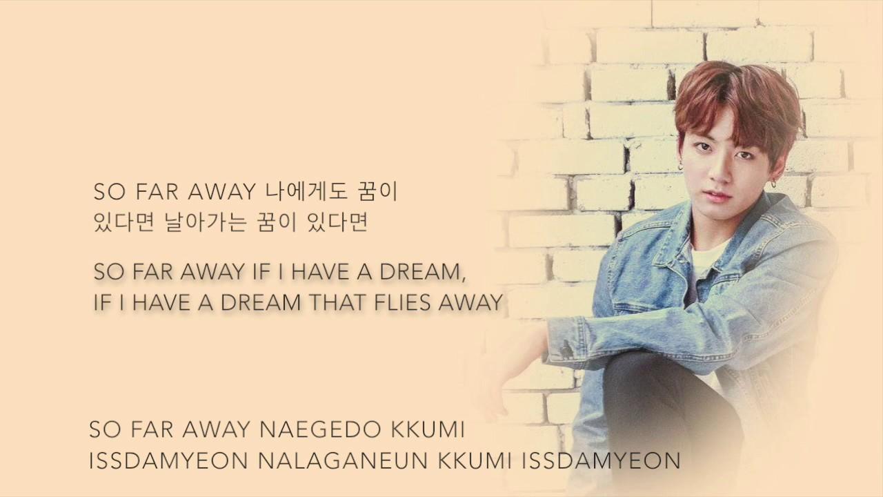 BTS Suga, Jin, & Jungkook - 'so far away (SUGA, 진, 정국 Ver )' [Han|Rom|Eng  lyrics]