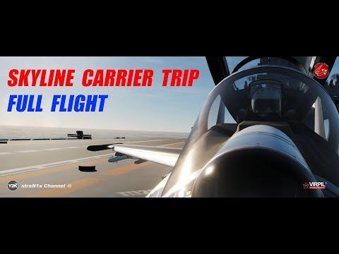 Su-27 / Skyline Server Carrier Trip / Full Flight / DCS World 4K