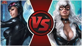 CATWOMAN vs BLACK CAT! (DC Comics vs Marvel)   CARTOON FIGHT CLUB BONUS