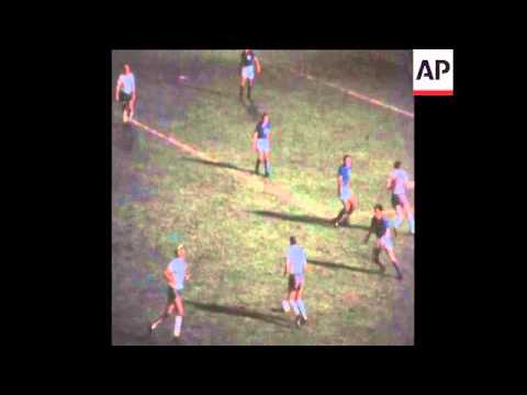SYND 22/05/1970 ENGLAND BEAT COLUMBIA IN  WORLD CUP  WARM UP MATCH