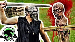 Kult of Athena's Viking Sword Vs ZGB Zombie Head! AlienGoBoom