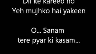 o Sanam Lucky Ali Karaoke with Lyrics.