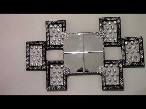 Dollar Tree DIY- Glam Crystal Wall Mirror- Home Decor -Wall Decor