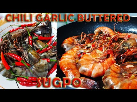 Spicy Buttered Garlic Shrimp (Sugpo) | Quick, easy and super delicious recipe! Napakasarap!