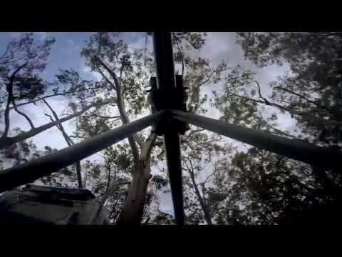 TreeTop Crazy Rider rollercoaster zip lines! 1km and 330m: near Sydney, Australia