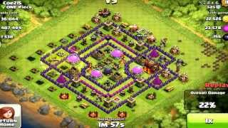 Clash of Clans- #1 Defense for Townhall 10 With Dark Purple Walls. Anti Hogs & Air Raids.
