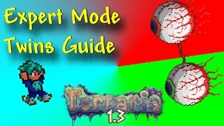 How To Defeat The Twins Early Hardmode - Terraria 1.3 Expert Mode - Yetti's Boss Murder Guide