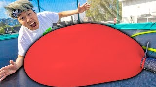 GIANT Water Balloon VS Trampoline Challenge (With Carter Sharer)