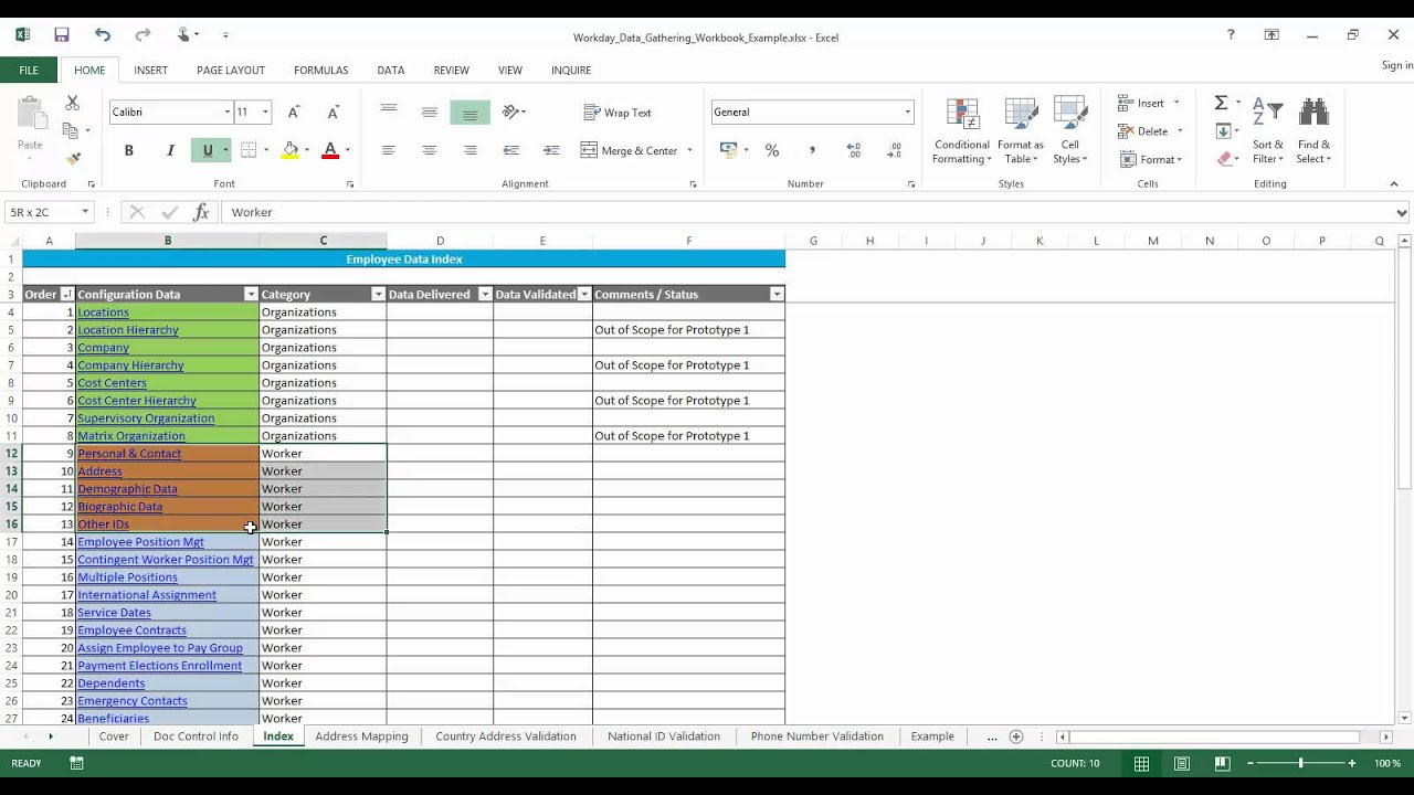 Part 1 | Workday Data Gathering Workbook - Overview