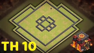 TOWN HALL 10 BASE DESIGN FOR CLAN WARS - Clash of Clans (CoC TH10)