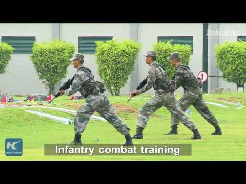 Anti-terror training by troops from PLA Macao Garrison