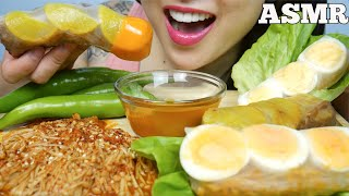 ASMR SPICY NOODLE ROLL *BLACKBEAN CHEESY SAMYANG NOODLES ENOKI (EATING SOUNDS) NO TALKING   SAS-ASMR