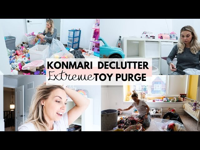 KONMARI Extreme Toy Declutter | Before & After Organization Motivation