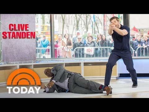 'Taken' Star Clive Standen And Al Roker Tackle Live Action Stunt In Studio 1A  TODAY