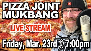 Pizza Joint MUKBANG 먹방 - Q&A (Friday, March 23rd 2018)