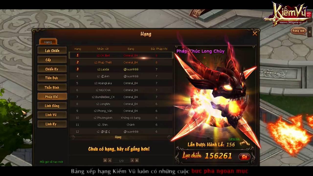 [ 360Game.vn ] Kiếm Vũ - Top 1 server 2