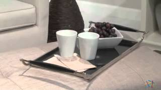 Altea Upholstered Coffee Table Bench Linen Sand - Product Review Video