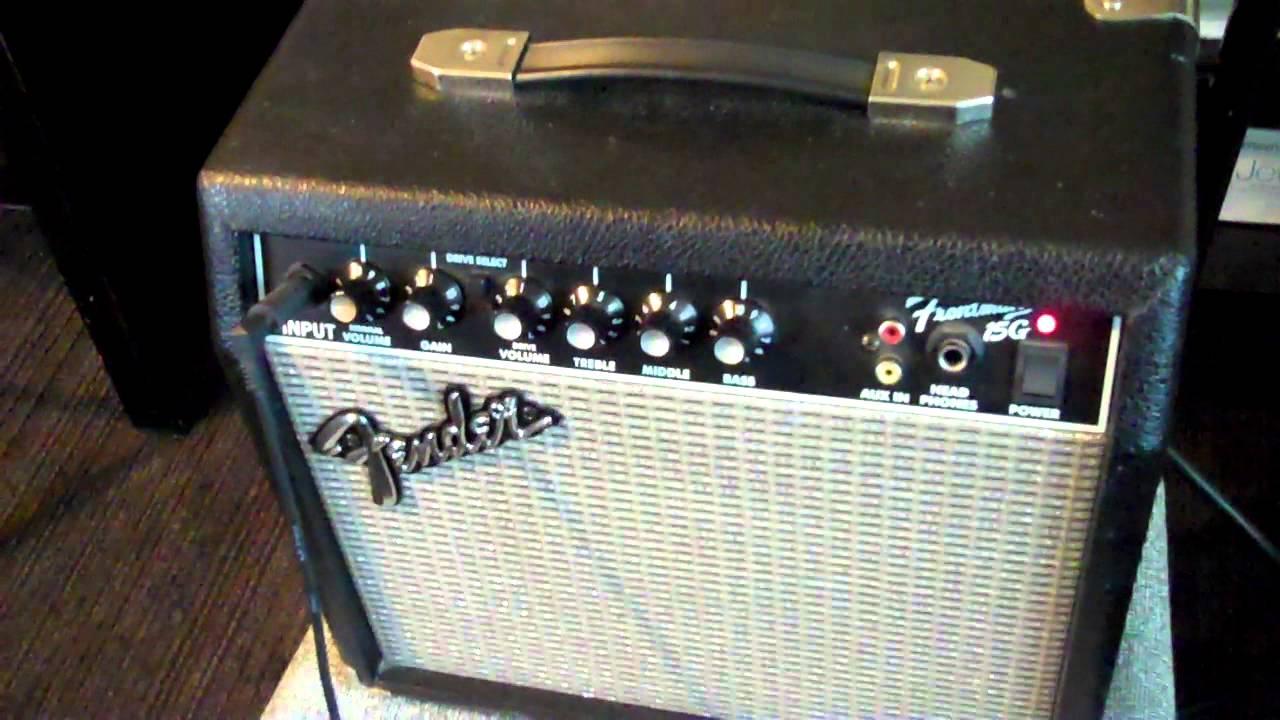 fender frontman 15g mp4 practice guitar amplifier play srv music or mic it cool info video. Black Bedroom Furniture Sets. Home Design Ideas