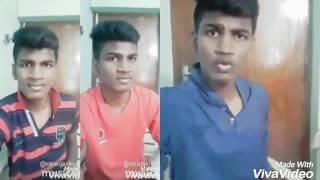 Polladhavan dubsmash... Santhanam Dhanush karunas Tamil dubsmash