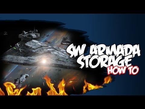 Storing Star Wars Armada Ships & Cards - Solutions Tutorial