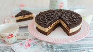 Tarta brownie con mantequilla de cacahuete - Receta en un minuto - María Lunarillos | tienda & blog