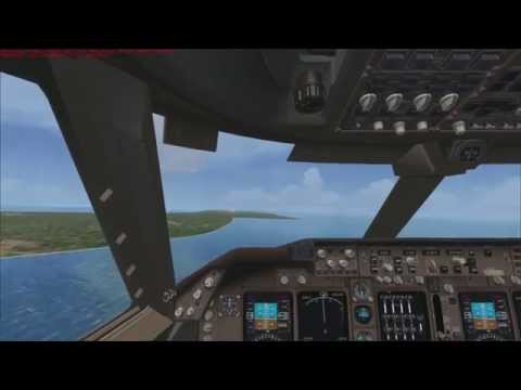 FSX - Landing the 747-800 @ Diego Garcia (British Indian Ocean Territory)