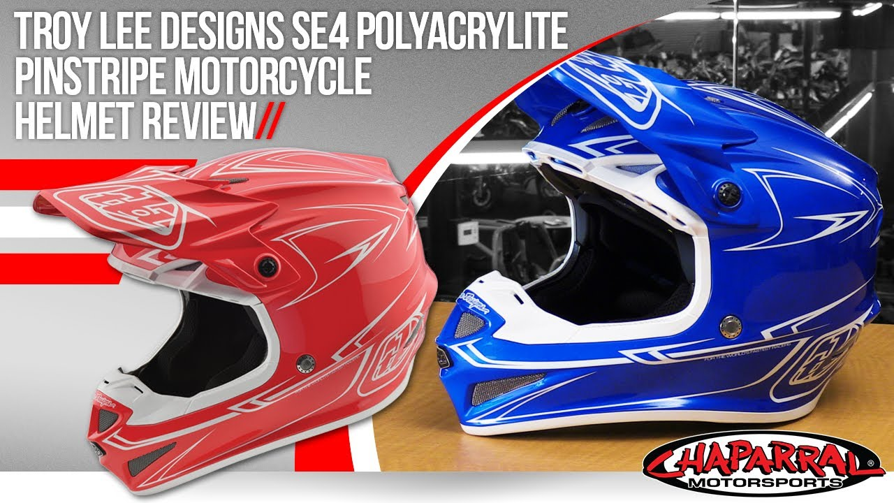 Troy Lee Designs SE4 Polyacrylite Motorcycle Helmet Review - YouTube f5f290e2bb1b