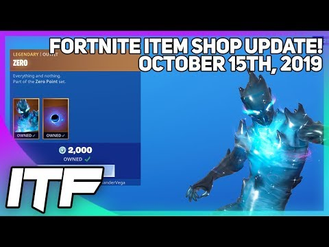 Fortnite Item Shop *NEW* ZERO SET! [October 15th, 2019] (Fortnite Battle Royale)