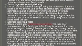 Child Investment Plans   - Teaching Children About Money
