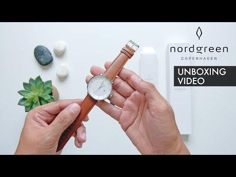 NORDGREEN WATCHES Unboxing Video – 40mm Silver Philosopher – Scandinavian Designer Watch Review 2018