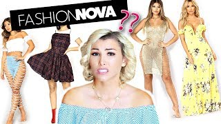 I WORE Fashion Nova OUTFITS FOR A WEEK!!!