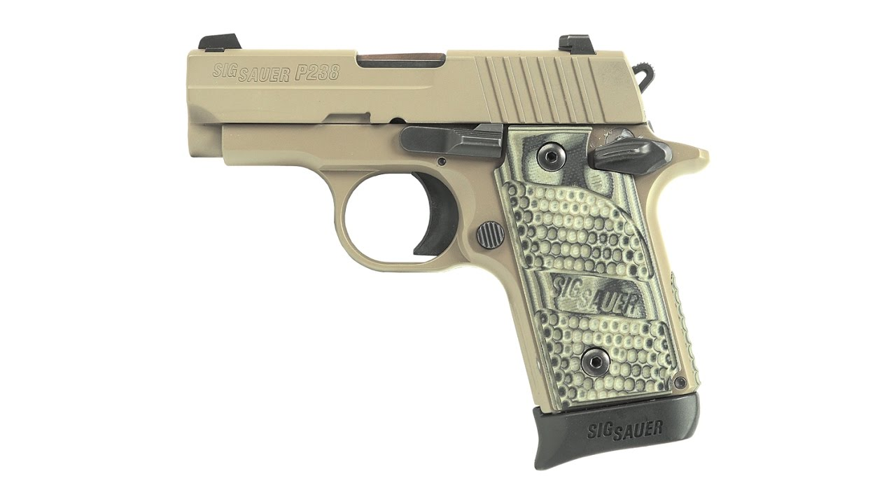 nra gun of the week sig sauer p238 scorpion pistol [ 1280 x 720 Pixel ]