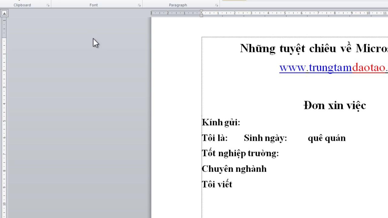 hướng dẫn sử dụng thước căn lề và Tab trong Word