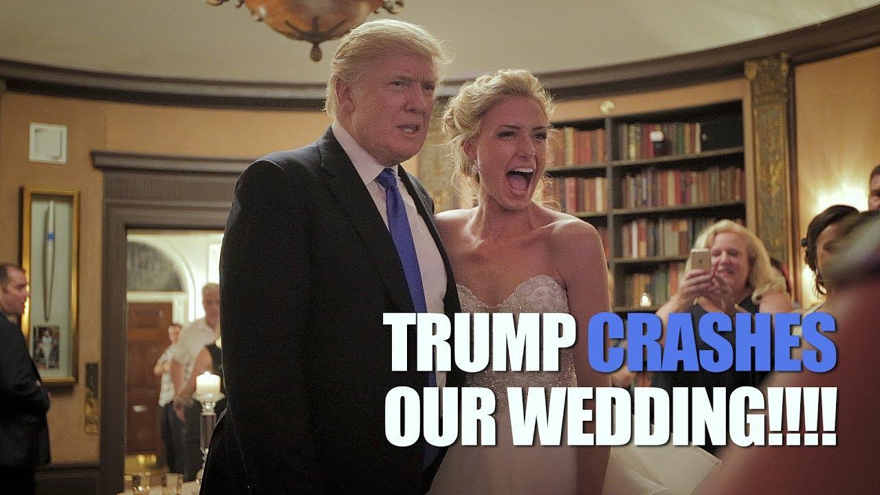 Trump Crashes Wedding.Trump Wedding Crash