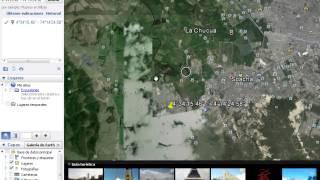 Ubicación de coordenadas por google earth