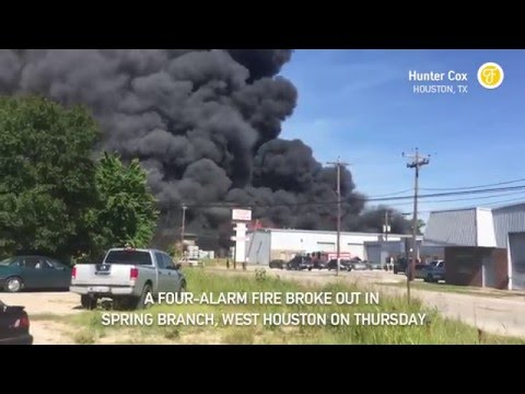 Warehouse Fire in Spring Branch, West Houston