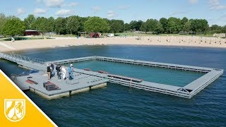 Das ist der barrierefreie Pool in der Xantener Südsee