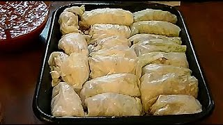My How To Recipe For Stuffed Cabbage Rolls Using Sausage, Ground Sirloin, Rice & Potatoes