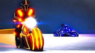 GTA TRON MINIGAME! (GTA 5DLC Funny Moments)