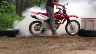 Best dirt bike burnout ever
