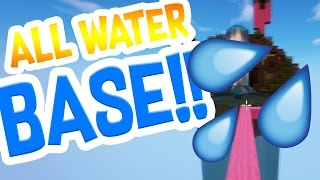 CRAZY ALL WATER BASE CHALLENGE! | Minecraft Bed Wars