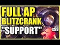 3,000 DAMAGE HOOK?! ONE Q = ONE KILL!  FULL AP BLITZCRANK IS THE FUNNIEST BUILD EVER! Predator Blitz
